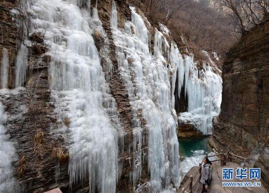 (环境)(5)河南云台山现冰瀑景观