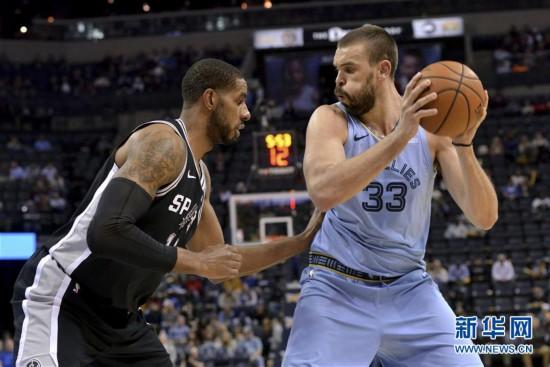 (体育)(2)篮球——NBA常规赛:灰熊胜马刺