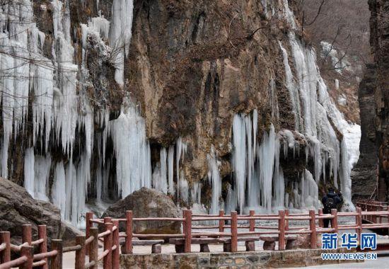 (环境)(1)河南云台山现冰瀑景观