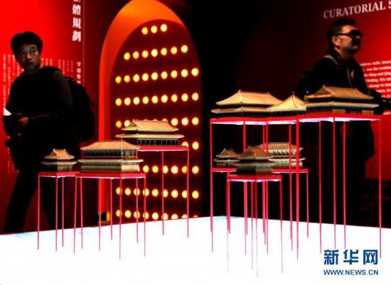 """(文化)(4)""""穿越紫禁城――建筑营造""""展在香港举行"""