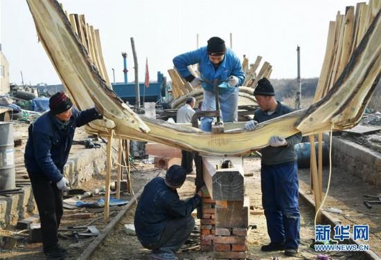 (社会)(1)探访胶东传统手工造船