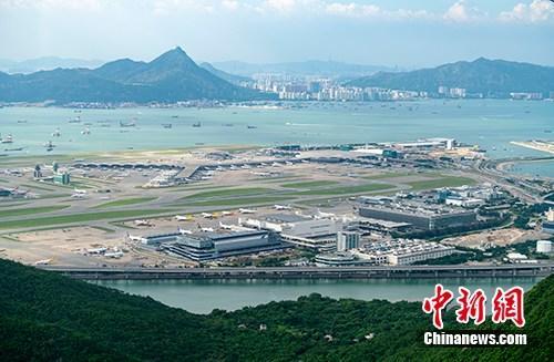 资料图:香港国际机场。<a target='_blank'  data-cke-saved-href='http://www.chinanews.com/' href='http://www.chinanews.com/'><p  align=