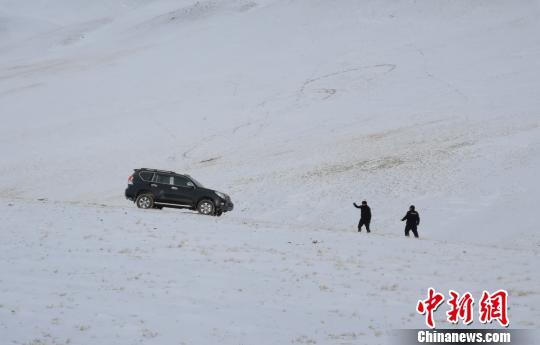 西藏自治区森林公安局羌塘国家级自然保护区冬季联合巡护专项行动巡护队阿里组,对阿里地区境内的羌塘国家级自然保护区开展了巡护工作,行程5300多公里,巡护区域未发现违法行为。图为巡护队在保护区内冰天雪地的巡护路上。 阿里地区森林公安局供图 摄