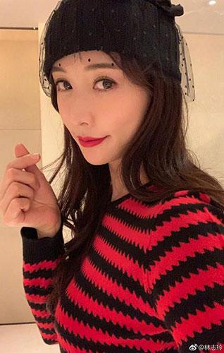 林志玲再晒自拍照:妆容精致展魅力