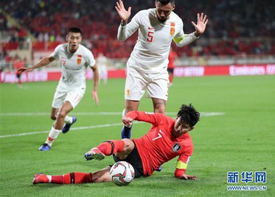(亚洲杯)(11)足球――小组赛:中国队不敌韩国队