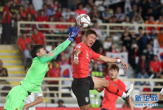(亚洲杯)(24)足球――小组赛:中国队不敌韩国队
