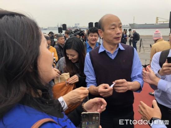 """高雄2000万农产品卖到大陆韩国瑜:""""九二共识""""是定海神针"""