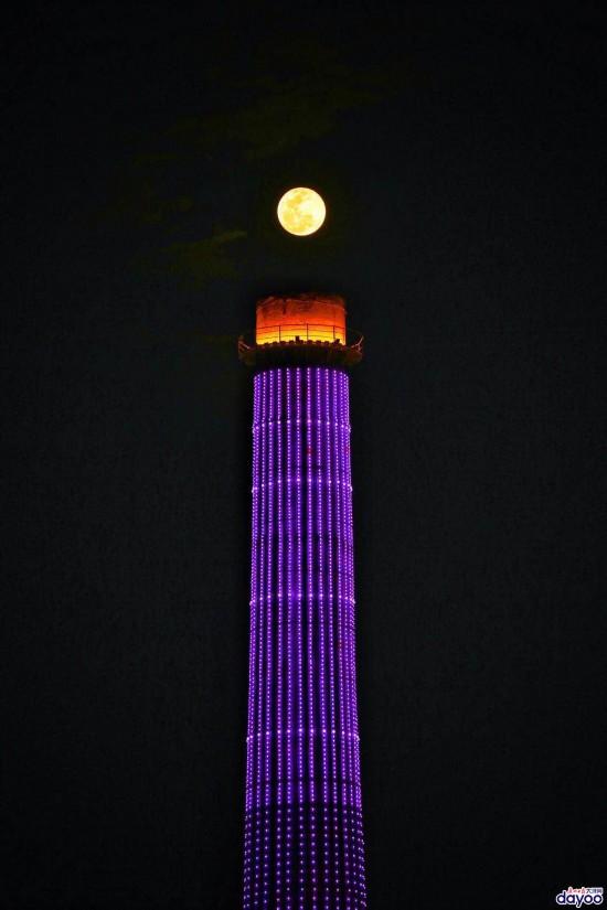 月满珠江 2019年首个月圆之夜带来超级月亮