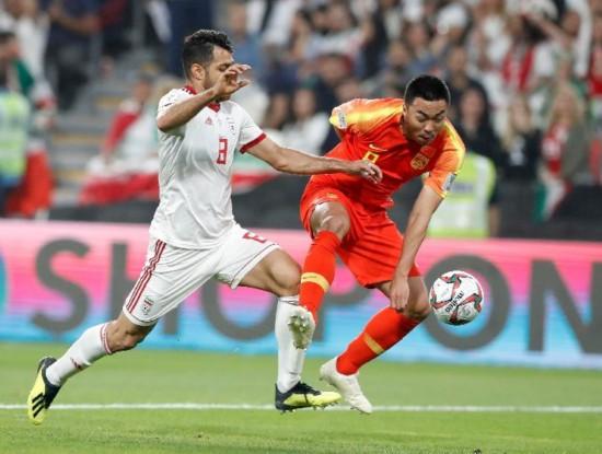 (组图)亚洲杯:中国vs伊朗0:3被淘汰 无缘四强