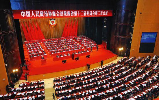 陕西省政协十二届二次会议在西安开幕 胡和平