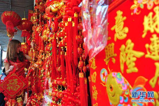 曼谷唐人街节日气氛渐浓