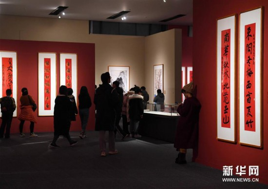 国家博物馆举办新年迎春书画展