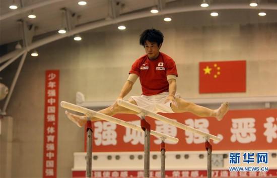 (体育)(8)体操――中日体操男队首次进行合练