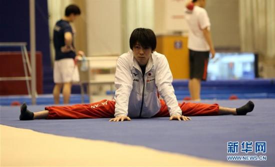 (体育)(4)体操――中日体操男队首次进行合练