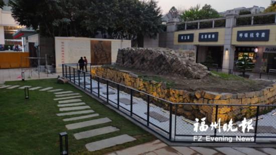 乌山明地址城墙变身微型遗址遗址展示福州古公园体育馆小学图片