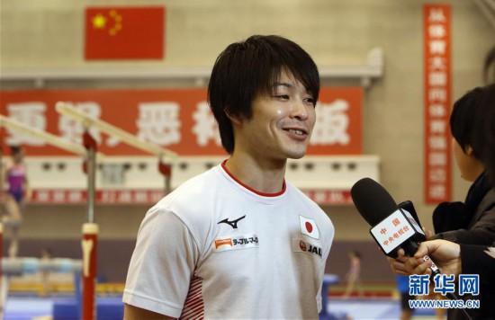 (体育)(5)体操――中日体操男队首次进行合练