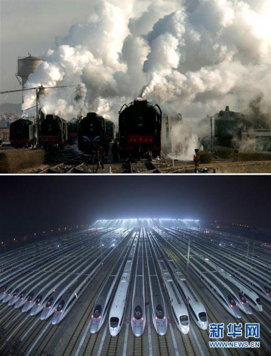 (关注春运)(1)春运记忆:变化的列车与不变的远方