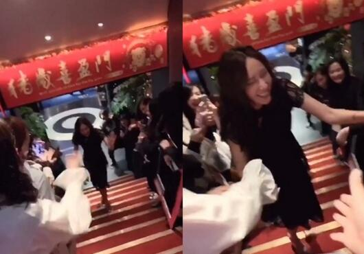 隋棠迟到原因藏母爱 穿着全黑连身洋装惊艳众人