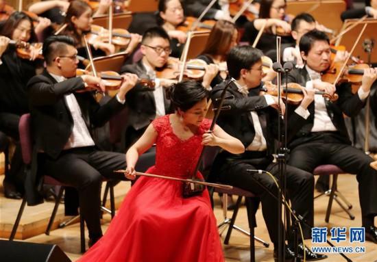 (文化)(1)上海交响乐团举行新春音乐会