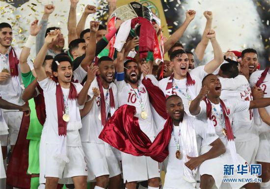 (亚洲杯)(1)足球――决赛:卡塔尔队夺冠