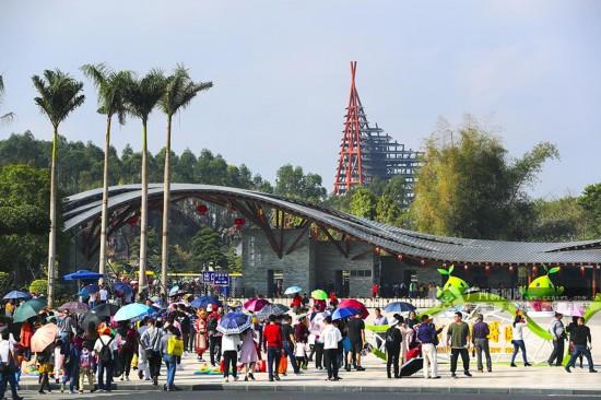 大年初一至初三 南宁园博园每天接待游客超过3万人次
