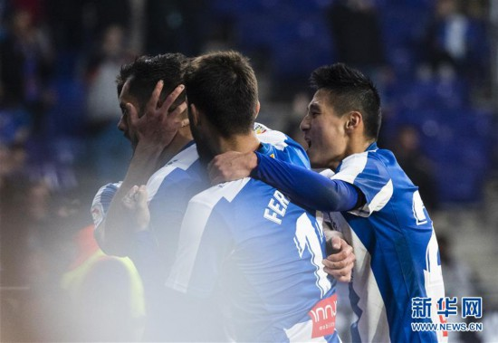 (体育)(3)足球――西甲:西班牙人胜巴列卡诺
