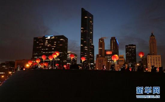 (国际)(1)芝加哥艺术博物馆举行活动庆祝中国农历新年