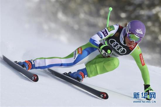 (体育)(3)高山滑雪――世锦赛:斯洛文尼亚选手女子滑降夺冠