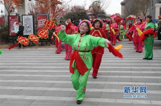 #(社会)(1)山东蓬莱:秧歌民俗拜大年