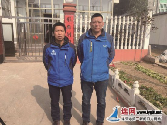 气温零下3℃ 江苏赣榆两勇士跳入冰冷河水救人