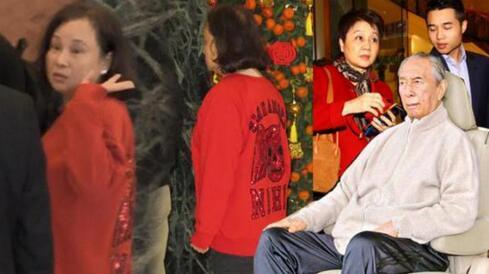 三太陈婉珍探望赌王 面带笑容跟媒体挥手