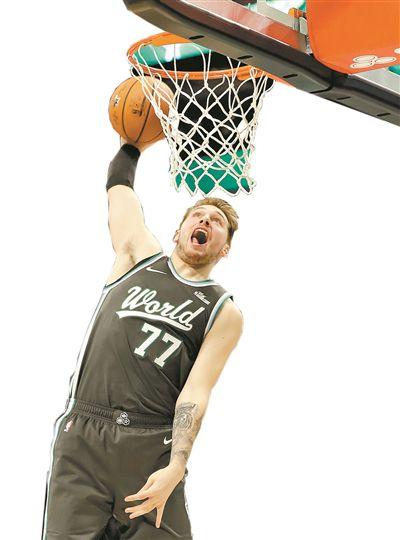 NBA全明星新秀赛库兹马收获MVP