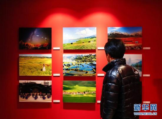 (国际)(1)中韩旅游图片展在首尔拉开帷幕