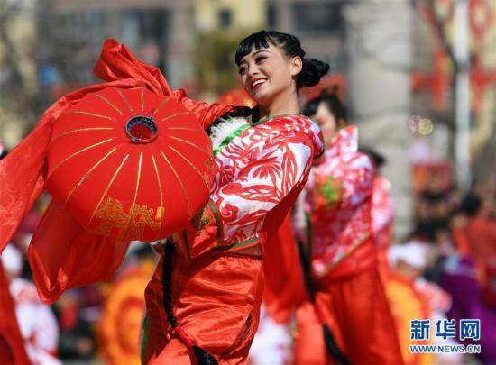 (新春走基层)(1)陕西延川:民俗展演闹元宵