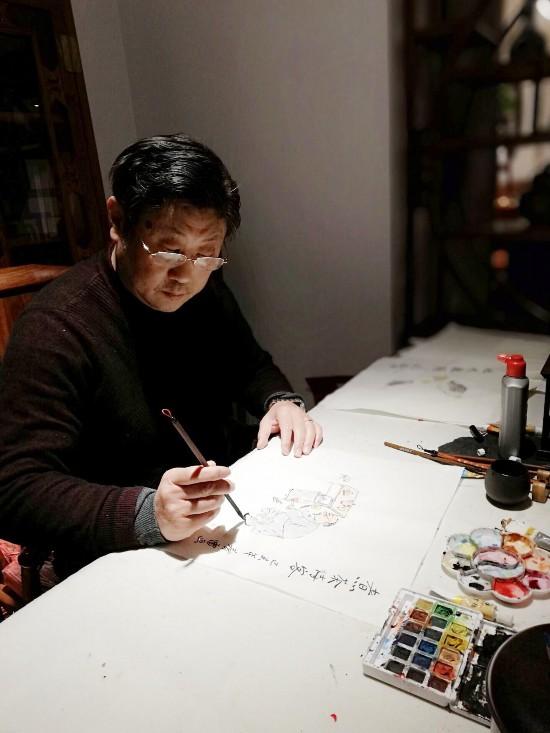 扬州一家具店老板的漫画人生累计创作2000余幅作品