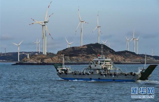 福建南日岛海域风力发电场