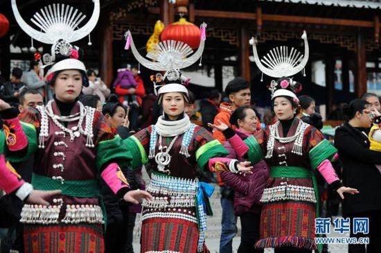 (文化)(2)贵州凯里:盛装起舞闹新春