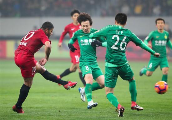 (体育)(7)足球――超级杯:上海上港夺冠