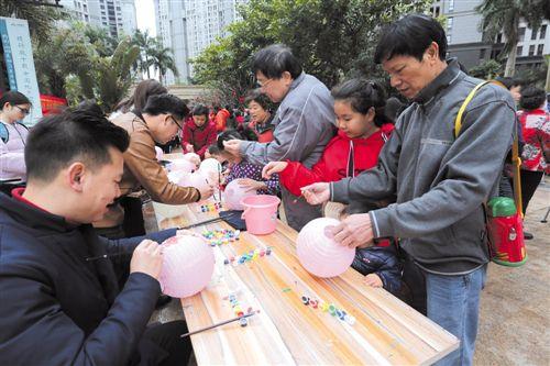 良慶區:家長孩子共做花燈同慶佳節