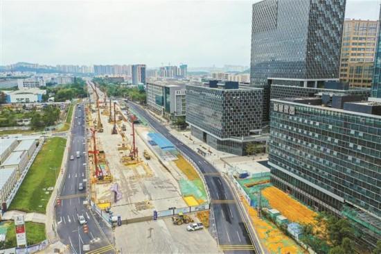 深圳地铁四期主体工程开工92个