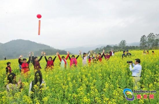 梅州市大埔县:阳春三月,油菜花开