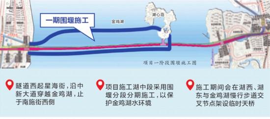 苏州金鸡湖隧道2022年底通车 首次穿越5A级湖泊景区