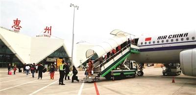 春运期间惠州机场各大运输指标均保持良好增长势头.