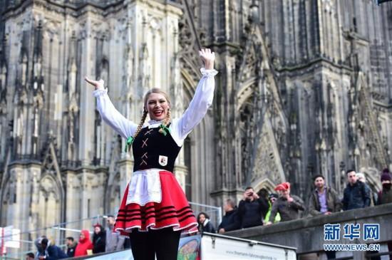 """(国际)(4)德国科隆狂欢节迎来""""玫瑰星期一""""大游行"""