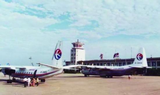 昔日繁忙的骆岗机场