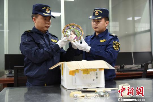 广西凭祥海关查获9件象牙制品重约660克