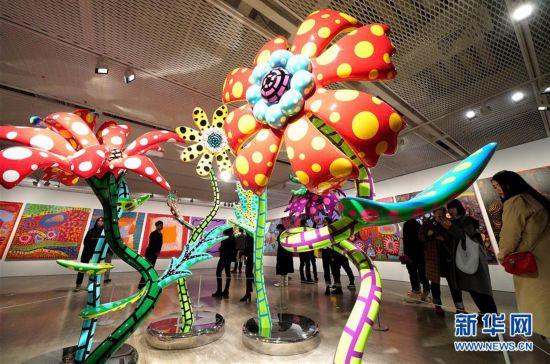 (XHDW)(2)上海举办日本艺术家草间弥生大展