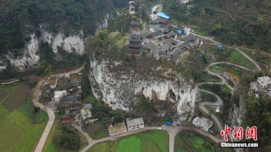 """航拍""""中國傳統村落""""貴州織金營上古寨"""