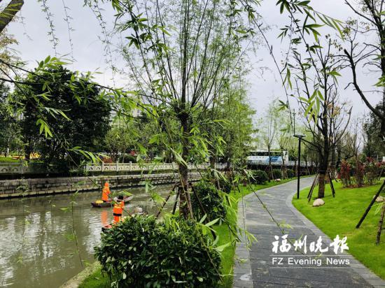 福州横江渡串珠公园开放 洋洽河3个串珠公园即将完工