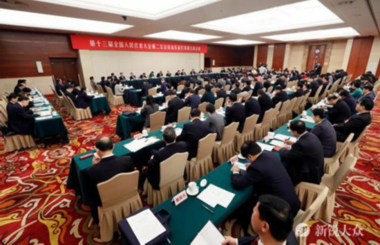 山东代表团举行全体会议